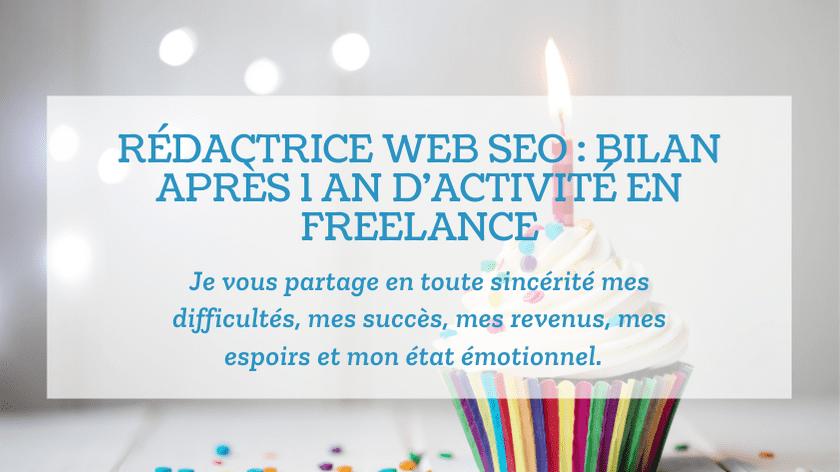 Rédactrice web SEO : bilan après 1 an d'activité en freelance