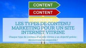 Read more about the article Les types de contenu marketing pour un site internet vitrine